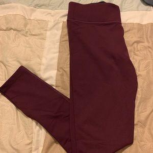 VS Pink ultimate maroon leggings